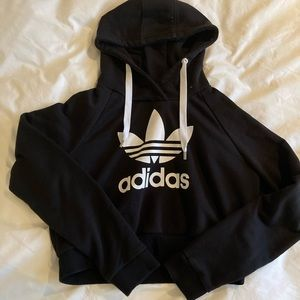 cute and comfy cropped Adidas hoodie.